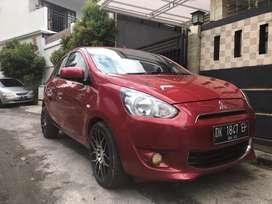 Mitsubishi mirage matik 2013 merah mulus