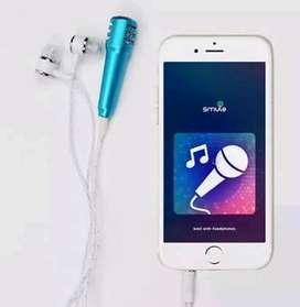 Mini microphone + headset utk smule joox