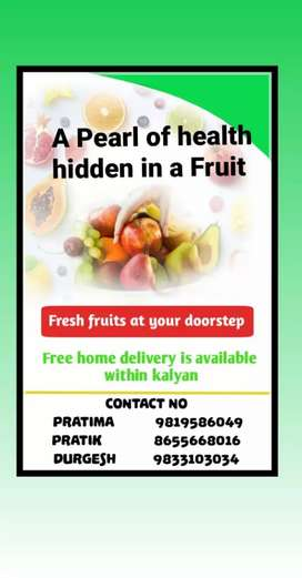 Fruits at your doorstep at reasonable rates
