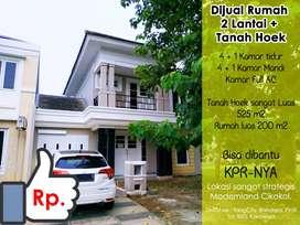 Dijual Murah Rumah hoek tanah luas di Modernland Cikokol Tangerang