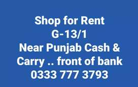 Shop for Rent in G 13