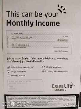 Exide life Advisor post  qulfi 10th pu & any degree