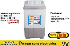 Super Asia Washing Machine Haier Kenwood Also Available