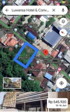 Tanah 3200m2 di jl pumorouw depan hotel Luwansa