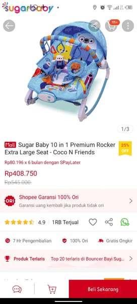 SUGAR BABY BOUNCER STROLLER