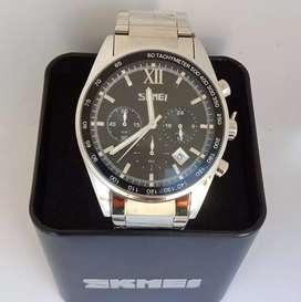 Skmei 9096 Original Stainless waterresist jam tangan malang free cod
