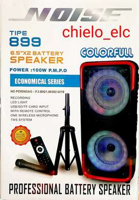 Speaker portable trolley bluetooth noise 899 colorfull