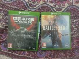Xbox one Gears of war 4 & Battlefield 1 for exchange