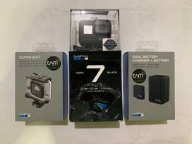 GoPro Hero 7 Black Action Camera + Dual Battery Charger + Super Suit