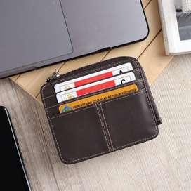 Dompet kulit asli | dompet kartu tipis crazy ISHIYA VETO (BISAREKBER)