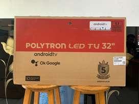 LED TV POLYTRON 32 inch -android tv -fullbaze garansi 5 tahun