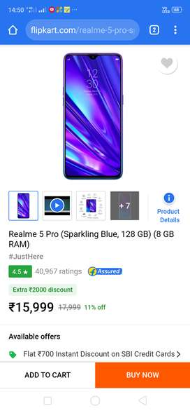 Real me 5 pro 8/128
