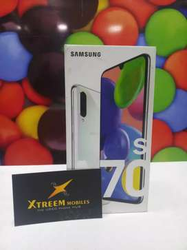 SAMSUNG A70s..Sealed Pack With One Year Warranty..