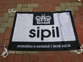 Buat Bendera Giant Flag Umbul umbul spanduk kain kaca film kantor dll