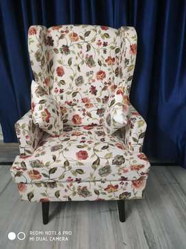 Wing chair And a Two Seater Sofa