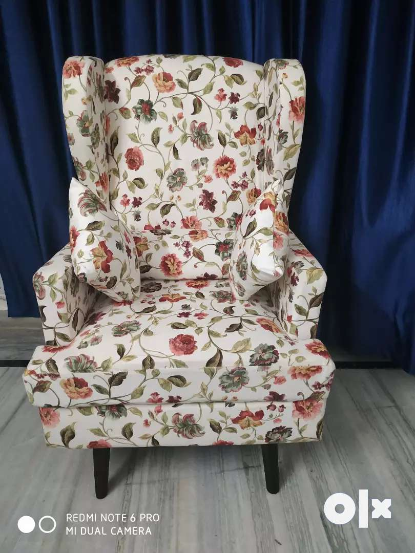 Wing chair And a Two Seater Sofa 0