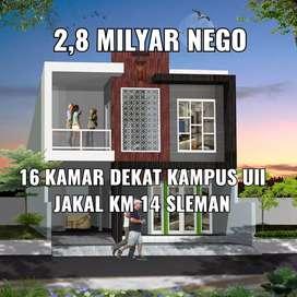 Rumah kost bisa untuk usaha selatan kampus UII jakal KM 14 Sleman