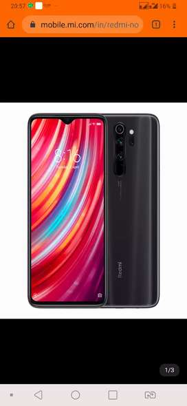 Box pack  Redemi note 8 pro