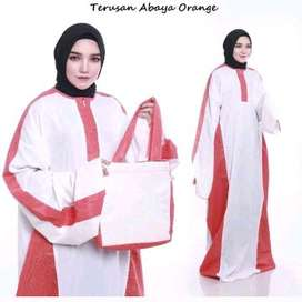 mukena abaya warna orange