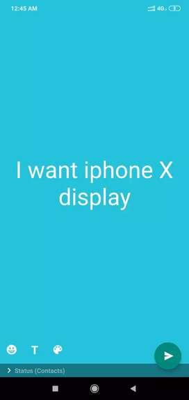 I want iphon x Display