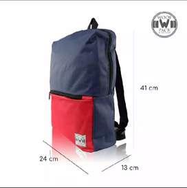 tas ransel backpack x woof , new. free tas selempang.