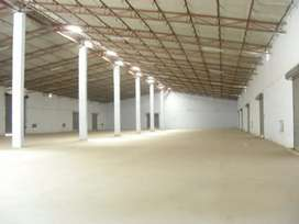 Warehouse, godown, industrial factory shed available for rent
