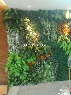Jasa Pembuatan Taman Vertikal - Tanaman Sintetis Dinding