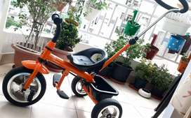 R for rabbit tricycle for kids orange/black colour