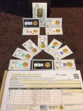 Jual emas minigold ( 24 k) dan emas antam