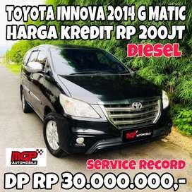 Toyota Innova Diesel 2014 Type G Matic Termuraaahh Service Record