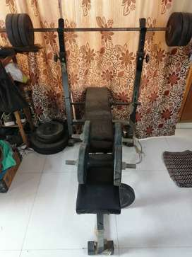 Gym set with bench