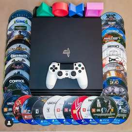 PS4 console 2 controller 40 games with warranty sale