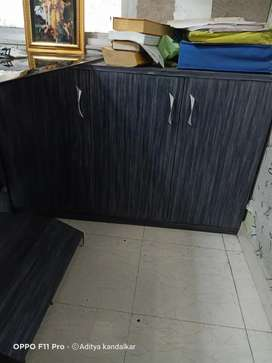 Office table and wall unit