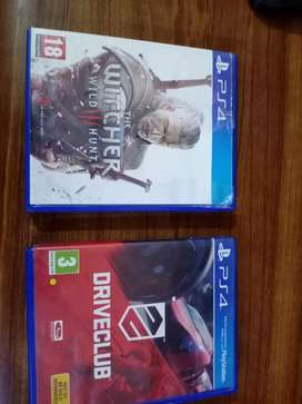 Ps4 games witcher 3 and drive club