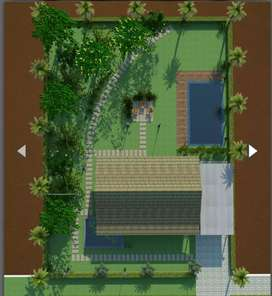 Villa with pool, mango trees, coconut trees and organic farm
