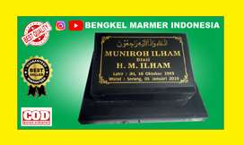 Papan Nama Nisan Patok Kuburan Makam TPU PLUMPANG Batu Marmer Granit