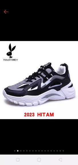 Sepatu Pria Impor Sneakers Olahraga Sepatu Kasual Mesh Breathable