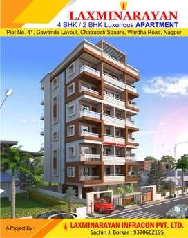 4 Bhk Flat Sale Chatrapati sq Gavande Layout New Construction - Nagpur
