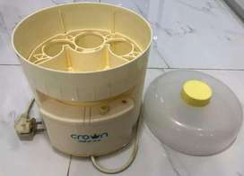 Alat steril botol bayi crown (muat 6 botol)