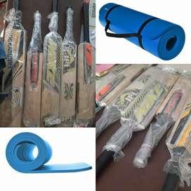 Badminton racket and cricket bat at very low price