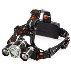 Headlamp Headlight 3 LED Cree XM-L T6 + 2 XEP 10000 Lumens - L3