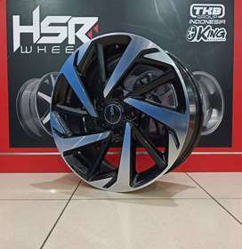 new velg hsr verona R17 H5x114.3 black polis
