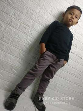 Chino Celana Panjang Anak Cowok Slim Fit 1-13 Tahun
