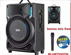 PROMO PORTABLE SPEAKER SALON AKTIF BLUETOOTH KARAOKE GMC MEETING.