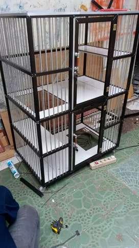 Kandang kucing peaknose alumunium