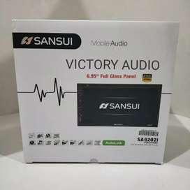 Paket hemat DOUBLE DIN SANSUI SA-5202I, touchscreen fullglass 7 inch