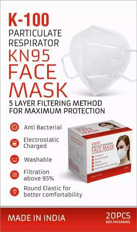Face mask k-100, k-200, k-300 @ rs75+gstand 3ply also available