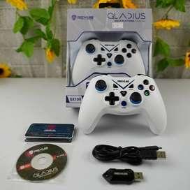 Gamepad Rexus wireless gladius GX100 untuk Xbox pc laptop ps3 PUTIH