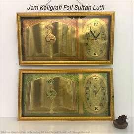 jam kaligrafi foil Sultan Lutfi
