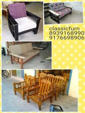 brand new fresh model wooden sofa